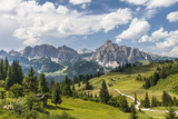 Alp Close Corvara, 'Puezgruppe' (Mountain Range) Behind, the Dolomites, South Tyrol, Italy, Europe Photographic Print by Gerhard Wild