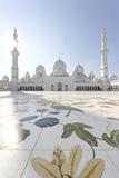 Inner Courtyard, Sheikh Zayed Bin Sultan Al Nahyan Moschee, Al Maqtaa Photographic Print by Axel Schmies