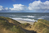 View to the North Sea from the Dunes at the 'Rotes Kliff' Near Kampen on the Island of Sylt Photographic Print by Uwe Steffens