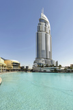Luxury Hotel the Address, 63 Floors, Swimming Pool, Metropolis, Downtown Dubai Photographic Print by Axel Schmies