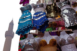 Egypt, Cairo, Islamic Old Town, Clothes Market and Minaret Photographic Print by Catharina Lux
