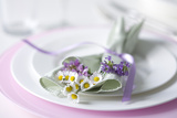 Table Decoration with Wild Flowers Photographic Print by Brigitte Protzel