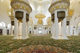 Chandelier in Prayer Hall, Sheikh Zayed Bin Sultan Al Nahyan Moschee, Al Maqtaa Photographic Print by Axel Schmies