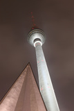 Germany, Berlin, Television Tower, Night, Winter Photographic Print by Catharina Lux