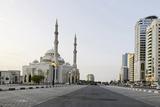 Al Noor Mosque, Corniche Street, Emirate of Sharjah, United Arab Emirates, Arabian Peninsula Photographic Print by Axel Schmies