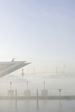 Ground Fog Above the Elbe, Bizarre, Unusual, Elbberg Campus, Altona Photographic Print by Axel Schmies