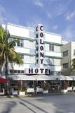 Colony Hotel, Facade, Art Deco Hotel, Ocean Drive, Miami South Beach Photographic Print by Axel Schmies