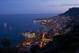Europe, Principality Monaco, Monte Carlo, Town View, Evening Photographic Print by Chris Seba