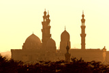 Egypt, Cairo, Mosque-Madrassa of Sultan Hassan in Backlight Fotografisk tryk af Catharina Lux