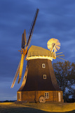Windmill by Stove, Mecklenburg-Western Pomerania, Germany Photographic Print by Rainer Mirau