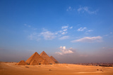 Egypt, Cairo, Pyramids of Giza, Evening Light Fotografisk tryk af Catharina Lux