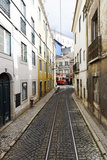 Historical Streetcar in the Alfama District, Lisbon, Portugal Photographic Print by Axel Schmies