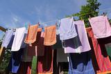 Farm, Clothesline, Towels Papier Photo par Catharina Lux