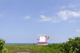 Beach Lifeguard Tower '83 St', Atlantic Ocean, Miami South Beach, Florida, Usa Photographic Print by Axel Schmies