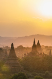 Sunrise over Ancient Temples of Bagan, Myanmar Photographic Print by Harry Marx