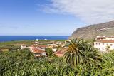 Gerhard Wild - View from Tazacorte over Banana Plantations to the Sea, La Palma, Canary Islands, Spain, Europe Fotografická reprodukce