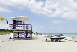 Beach Lifeguard Tower '79 St', Miami South Beach, Florida, Usa Photographic Print by Axel Schmies