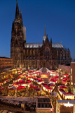Germany, North Rhine-Westphalia, Rhineland, Cologne, Christmas Market Photographic Print by Chris Seba