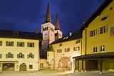 Germany, Bavaria, Berchtesgaden, Berchtesgaden, Church in Old Town at Dusk Photographic Print by Rainer Mirau