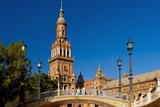 Spain, Andalusia, Seville, Plaza De Espana, West Tower Photographic Print by Chris Seba