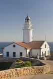 Spain, Majorca, Far De Capdepera, Lighthouse, Stone Wall Photographic Print by Rainer Mirau