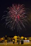 Austria, Vienna, Fireworks, Festival of Lights, Night Photographic Print by Gerhard Wild
