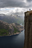 Preikestolen, View, Lysefjord, Ryfylke, Rogaland, Norway, Europe Reprodukcja zdjęcia autor Dave Derbis