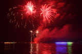 Berlin, Wannsee, Beach Swimming Area, Fireworks Photographic Print by Catharina Lux