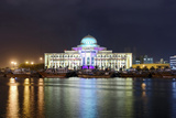 Colourful Illumination, Projection, Sharjah Light Festival, Palace of Justice, Courthouse Photographic Print by Axel Schmies