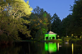 Germany, Hessen, Northern Hessen, Reinhardshausen, Health Resort Park, Pond, Evening Photographic Print by Chris Seba