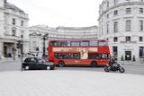 Street Scene, Red Double-Decker Bus, Roundabout, Charing Cross, Trafalgar Square Photographic Print by Axel Schmies