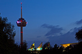 Germany, North Rhine-Westphalia, Cologne, Television Tower, Evening Photographic Print by Chris Seba