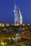 Burj Al Arab and Medinat Hotels, 7 Stars Hotel, Jumeirah, Dubai, United Arab Emirates Photographic Print by Axel Schmies