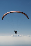 Paraglider Above the Clouds, Aviation, Paraglider, Paragliding, Paragliding Photographic Print by Frank Fleischmann