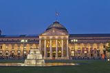 Germany, Hessen, State Capital, Wiesbaden, Health Resort House, Casino, Fountain, Evening Photographic Print by Chris Seba