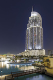Luxury Hotel the Address, Souk Al Bahar, Downtown Dubai, Dubai, United Arab Emirates Photographic Print by Axel Schmies