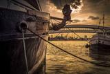 Germany, Hamburg, Harbour, Yach+F2406:F2411Ailing Ship Photographic Print by Ingo Boelter