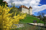 Switzerland, 'Chateau De Gruyres' in the Swiss Canton Fribourg on a Sunny Spring Day Photographic Print by Uwe Steffens