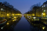 Amsterdam, New Prinsengracht, Houseboats Photographic Print by Torsten Elger