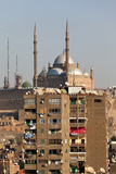 Egypt, Cairo, View from Mosque of Ibn Tulun on Old Town and Citadel Photographic Print by Catharina Lux