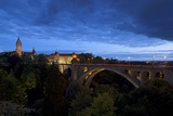 Luxembourg, Capital of Luxembourg, Adolphe Bridge, Place De Metz, Dusk Photographic Print by Chris Seba