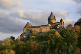 Castle Stahleck Near Bacharach in the Evening, View from the Steeger Valley Photographic Print by Uwe Steffens