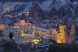 Town View of Gšreme at Night, Cappadocia, Anatolia, Turkey Photographic Print by Rainer Mirau