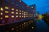 Hamburg, Harburg Channel, Dusk Photographic Print by Thomas Ebelt