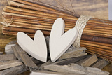 Hearts, Wood, Deko, Stilllife Photographic Print by Andrea Haase