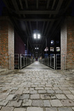 Under the KibbelstegbrŸcke (Bridge) by Night, Speicherstadt (City of Warehouses), Germany Photographic Print by Axel Schmies