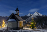 Chapel at the Lockstein, Berchtesgaden, Watzmann, Berchtesgadener Land, Bavaria, Germany Photographic Print by Dieter Meyrl