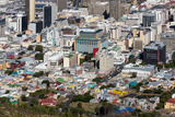 South Africa, Cape Town, Bokaap, from Above Photographic Print by Catharina Lux