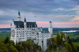 Sundown, Neuschwanstein Castle (New Swanstone Castle), Castle, Fairytale Castle, Bavaria, Germany Photographic Print by Dave Derbis