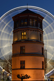 Germany, North Rhine-Westphalia, Dusseldorf, Navigation Museum and Big Wheel at Night Photographic Print by Andreas Keil